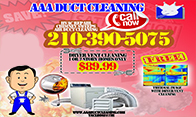 San Antonio dryer vent cleaning deals and flate rates for dryer vent repair and inspections for only 89.99 call today and get covered by AAA Duct Cleaning's on time service policy. 210-390-5075