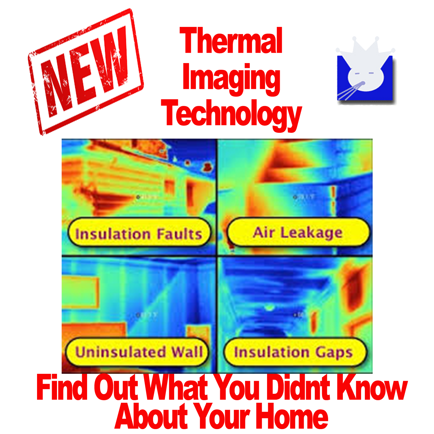 Free Thermal Imaging of your air ducts. Thermal imaging of your air ducts San Antonio can be beneficial because it sees were air leakages are occuring and insulation problems as well.